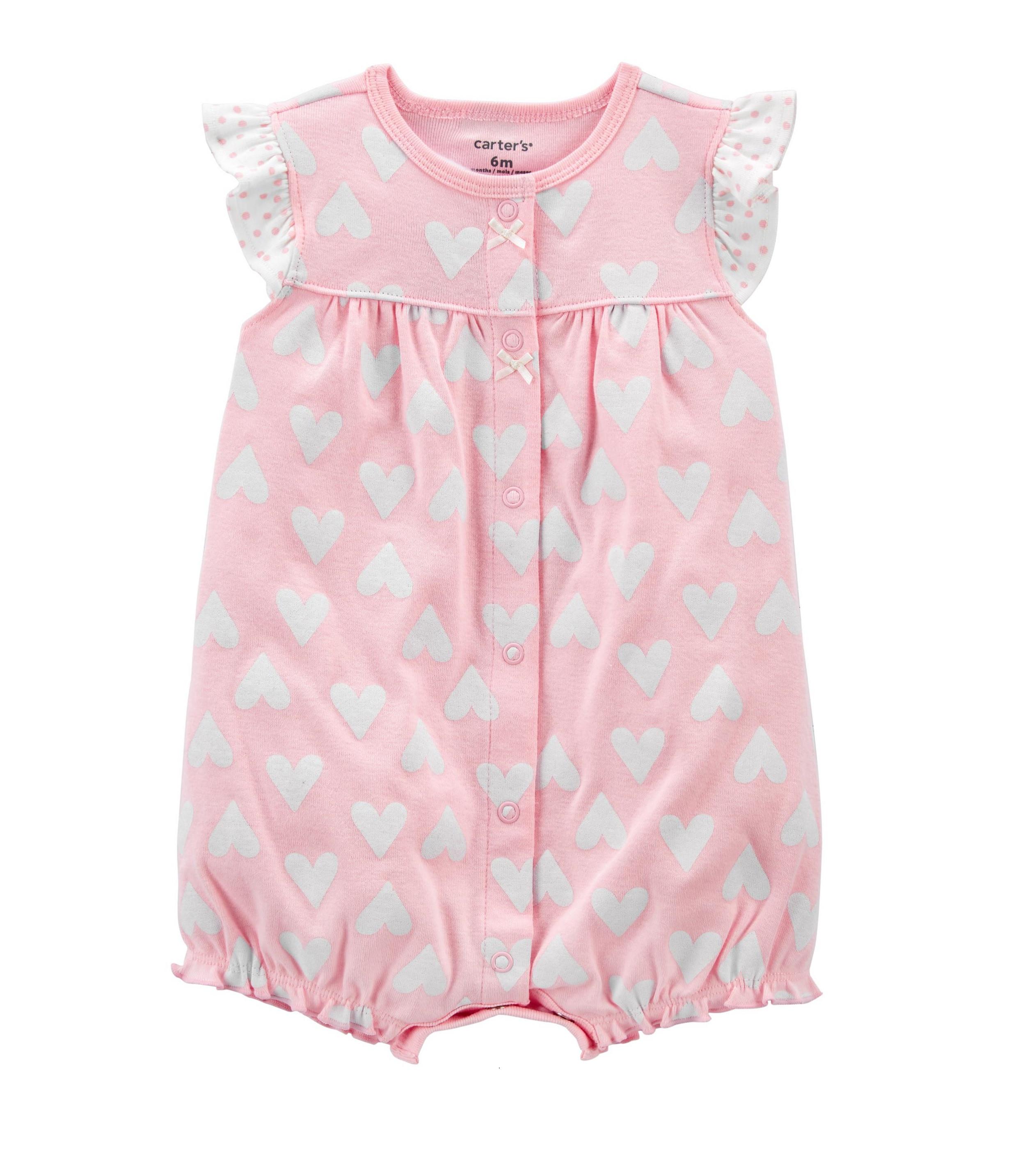 Купити Пісочник ( ромпер ) Carters Heart Pink - фото 1