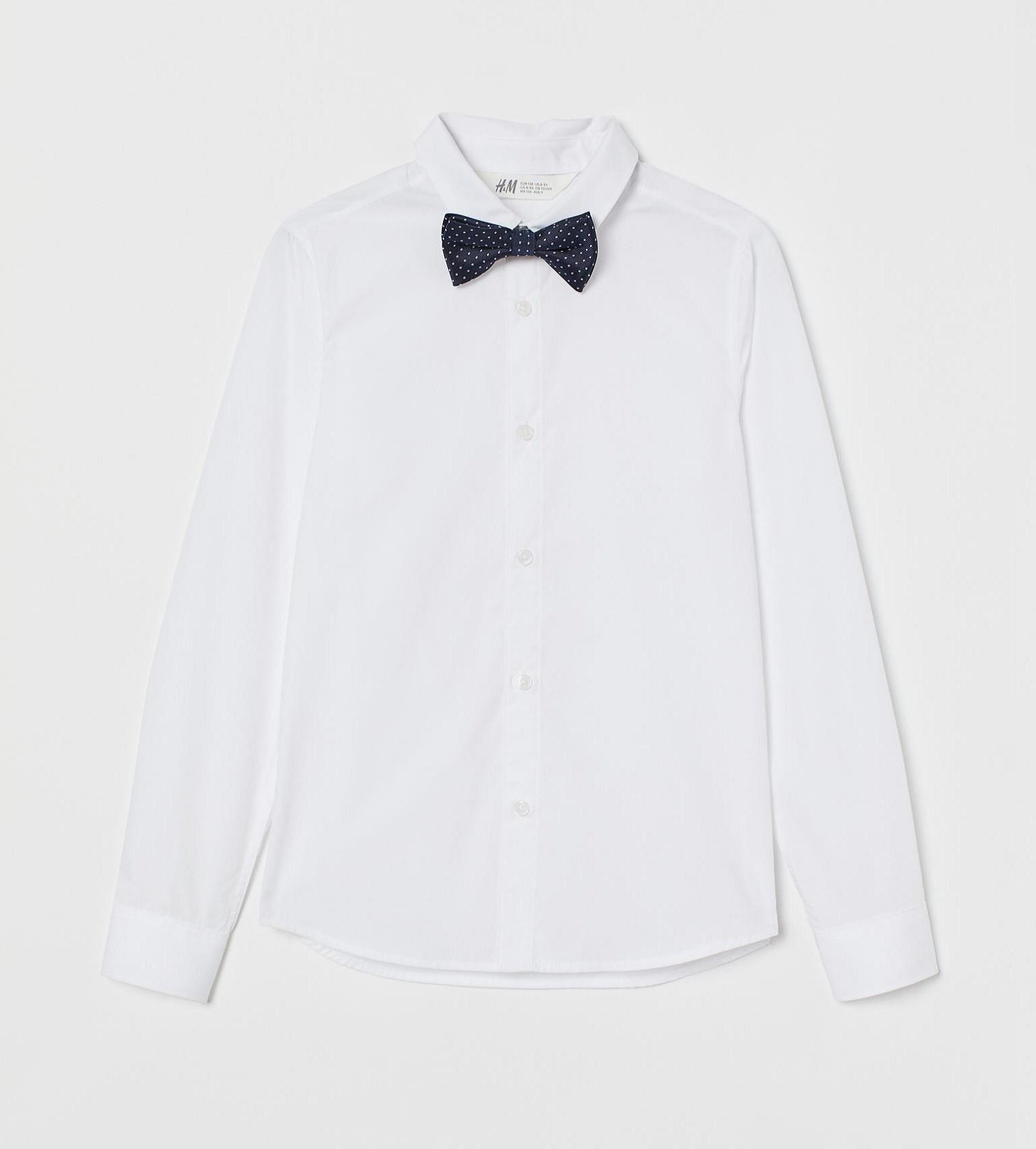 Купити Сорочка з метеликом H&M Біла/метелик в горшек - фото 1