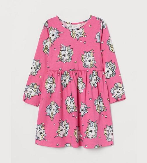 Купити Сукня H&M Cotton jersey: Cerise/Unicorns - фото 1