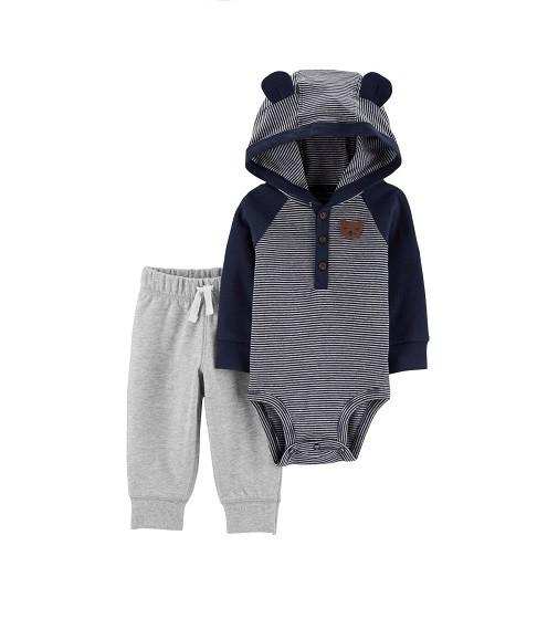 Купити Набір 2в1 Hooded Bodysuit Pant Set Carters (18641810) - фото 1