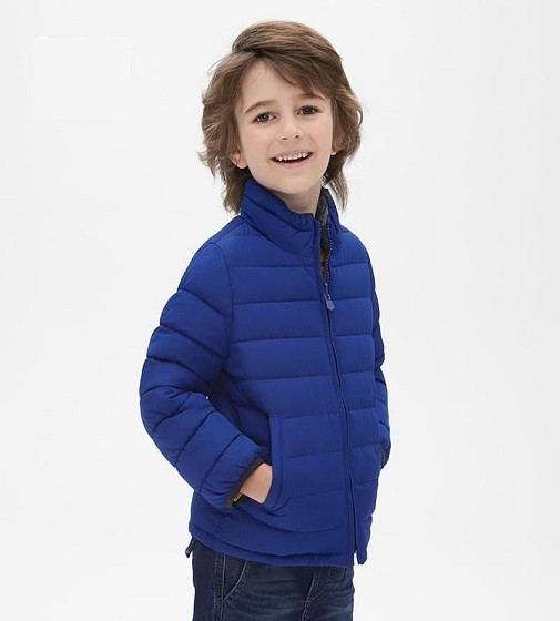 Купити Двостороння куртка GAP Toddler Reversible: active blue - фото 1