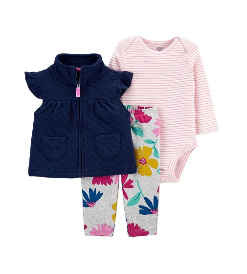 Купити Костюм 3-Piece Floral Little Vest Set Carters (1j929910) - фото 1