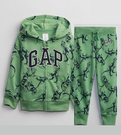 Купити Костюм на махрі Gap Logo: Green dino - фото 1