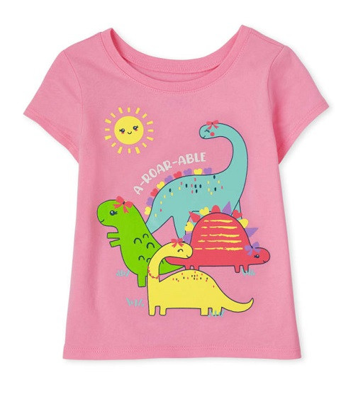 Купити Футболка Childrensplace Dino Pink - фото 1