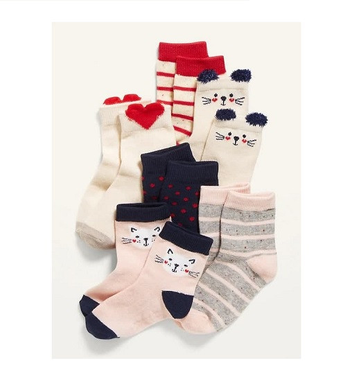 Купити Набір шкарпеток Printed Crew Socks 6-Pack Old Navy (648496) - фото 1