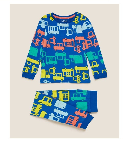 Купити Піжама Cotton Transport Print Pyjama Set M&S T86/3715E - фото 1