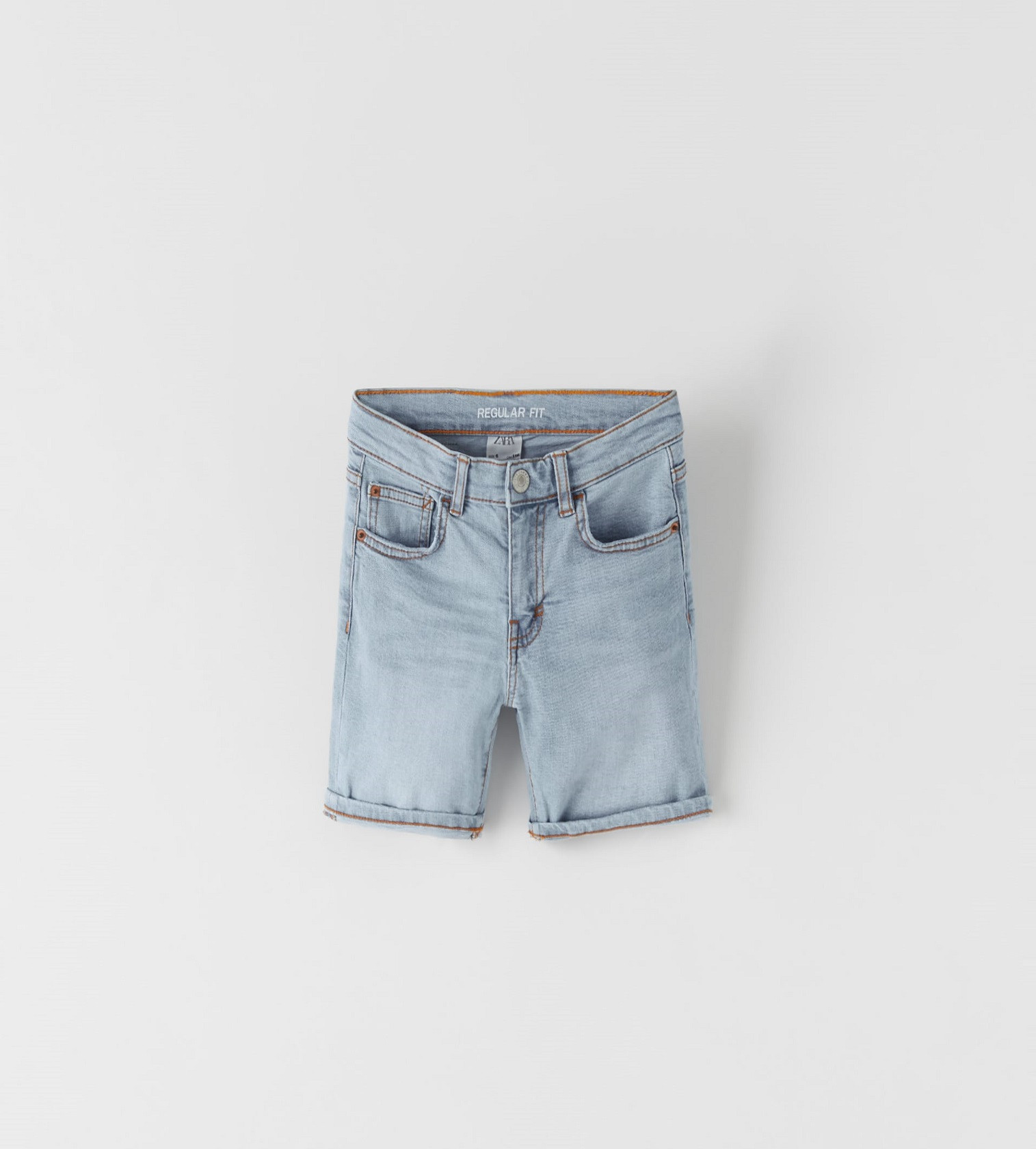 Купити Джинсові шорти Zara BLEACH WASH DENIM BERMUDA - фото 1