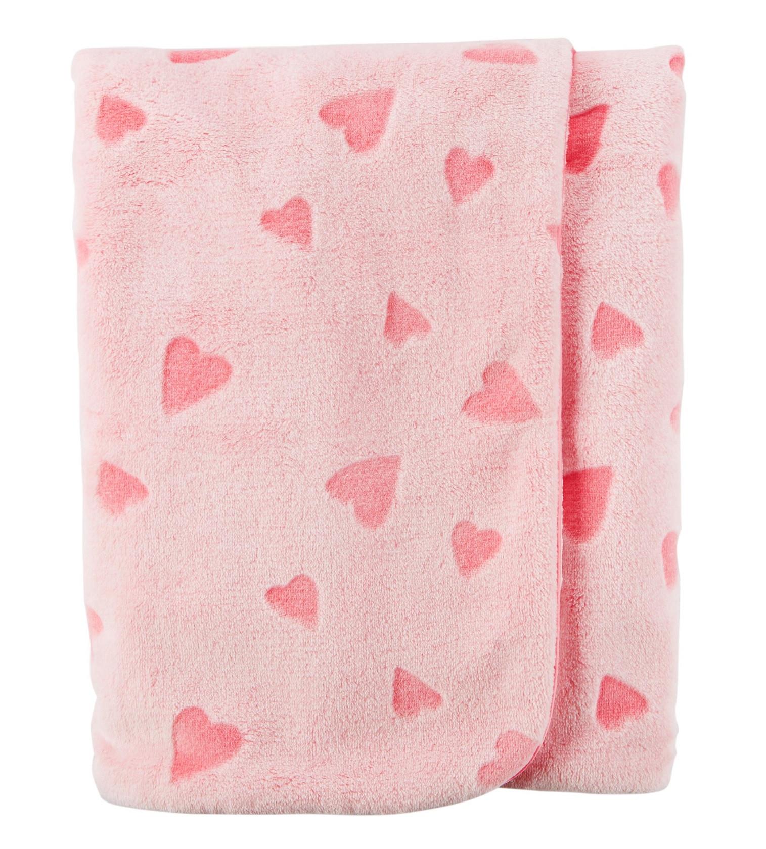 Купити Ковдра плюшева Carters Heart Plush Pink - фото 1