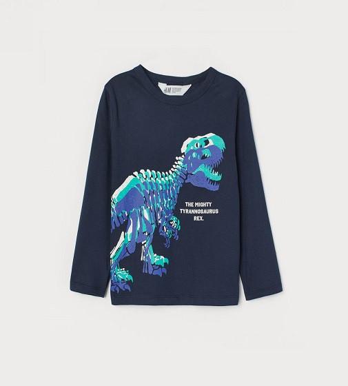 Купити Реглан H&M Printed jerse: Dark blue/Tyrannosaurus Rex - фото 1