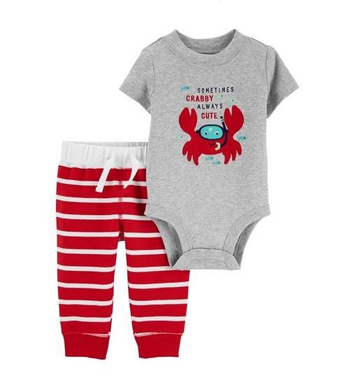 Купити Набір 2-Piece Crab Bodysuit Pant Set Carters (1h446010) - фото 1
