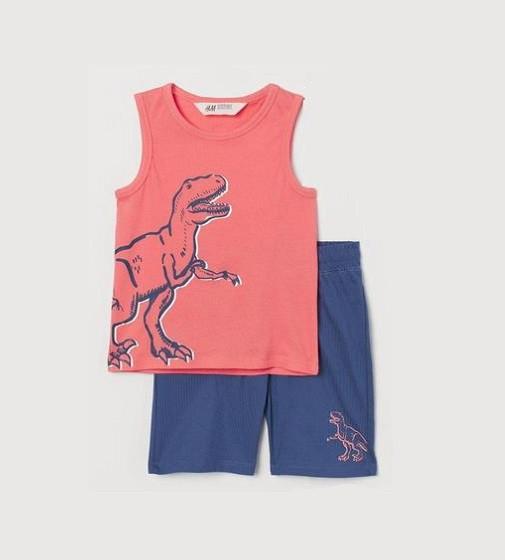 Купити Набір H & M Динозавр Navy / Pink - фото 1