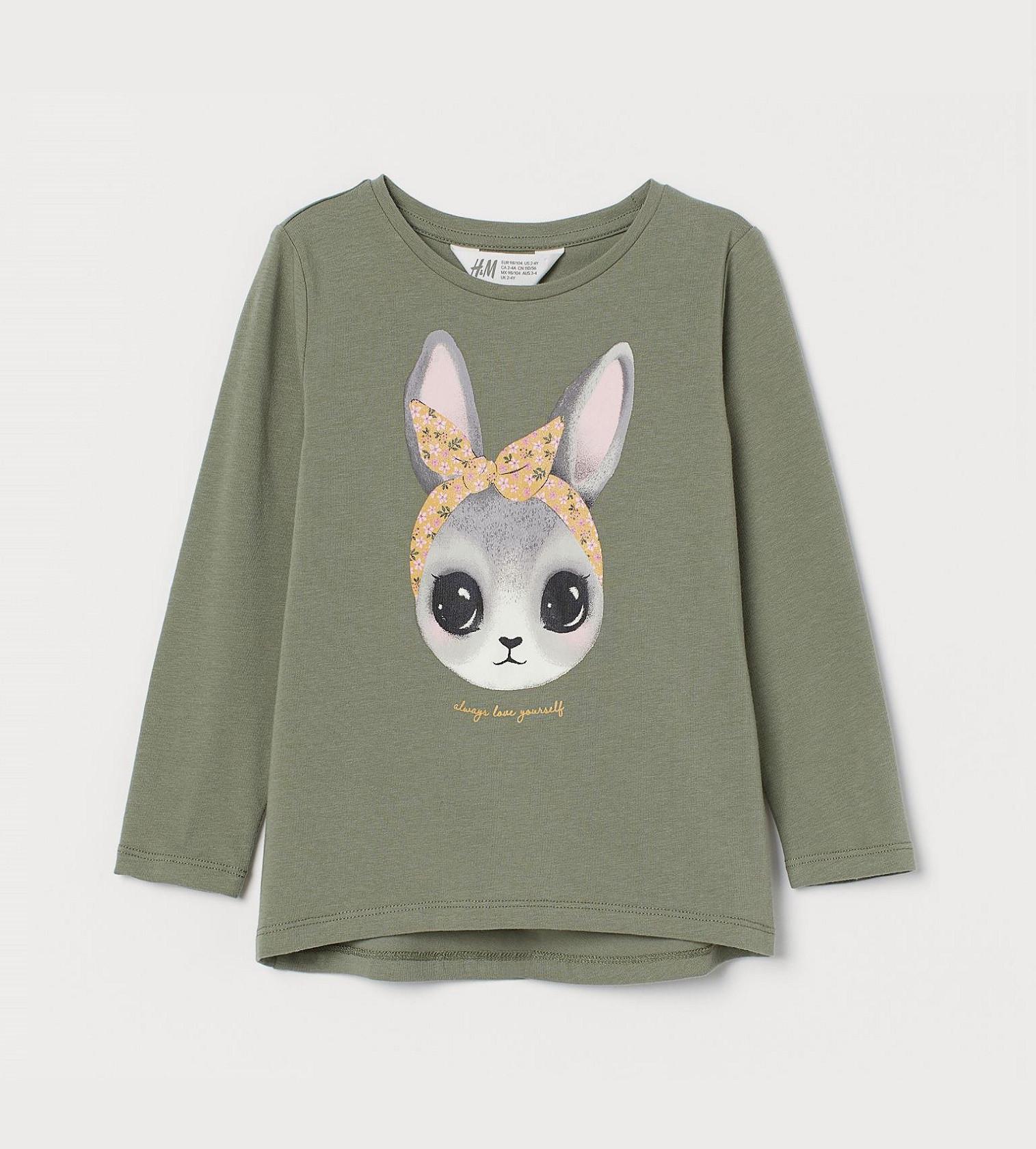 Купити Реглан H&M Зелений хакі / Кролик - фото 1