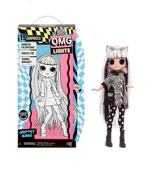 Купити Лялька лол L. O.L. surprise! O. M.G. lights groovy babe fashion doll LOL OMG (565154) - фото 1