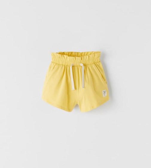 Купити Шорти трикотажні Zara FLOWING Yellow - фото 1
