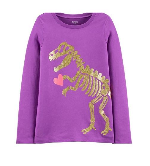 Купити Реглан Glitter Dinosaur Skeleton Jersey Tee Carters (3I372410) - фото 1