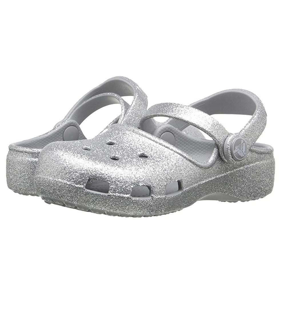 Купити Дитячі сабо Crocs Karin Sparkle Clog: Silver - фото 1