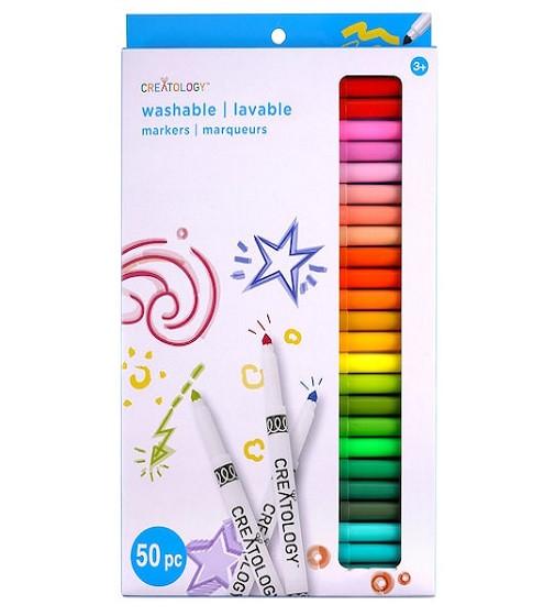 Купити Фломастери миючі Color Round Tip Washable Marker Set by Creatology® 50 шт - фото 1