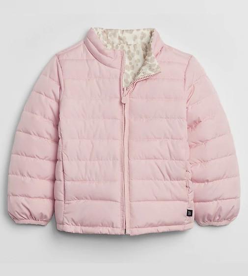 Купити Двостороння куртка GAP Kids ColdControl (Рожева / плямиста) - фото 1