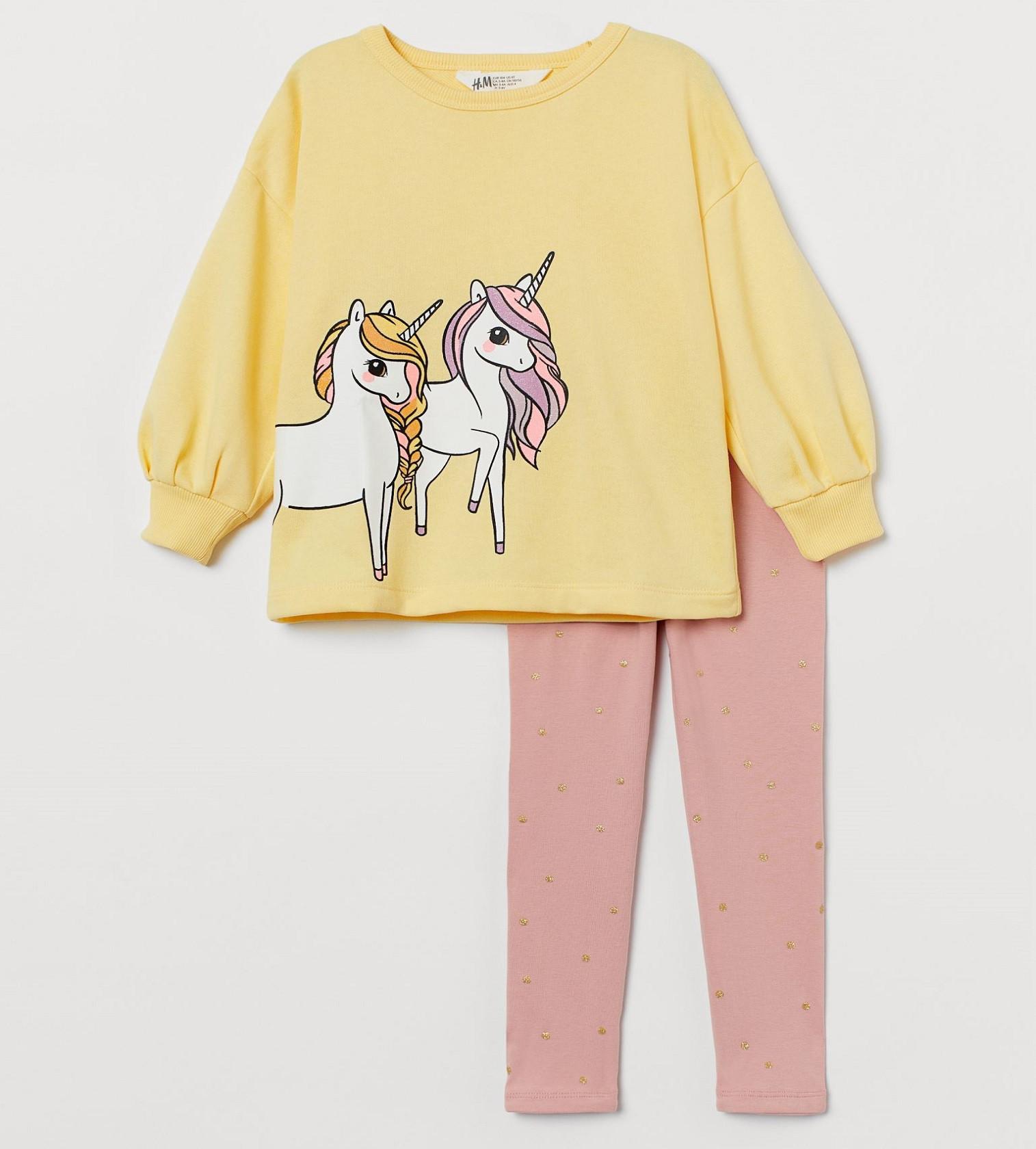 Купити Набір H & M 2в1 Light yellow/Unicorns - фото 1