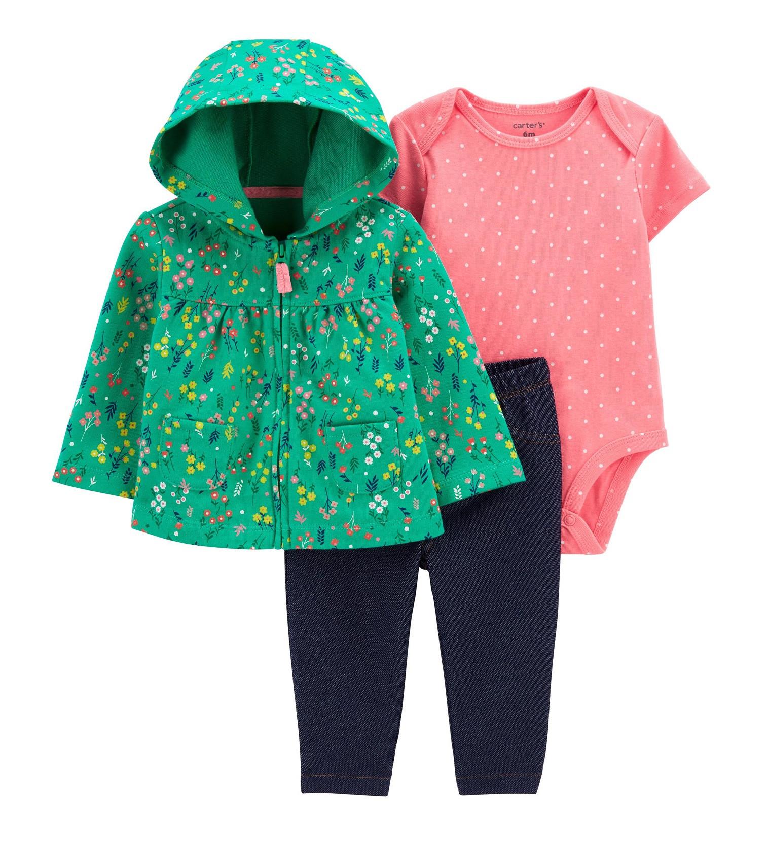 Купити Набір 3в1 Floral Little Set Carters - фото 1
