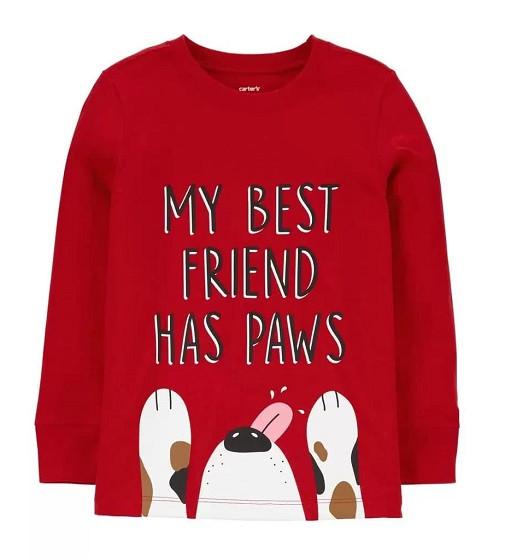 Купити Реглан Carters Dog Best Friend: Red - фото 1