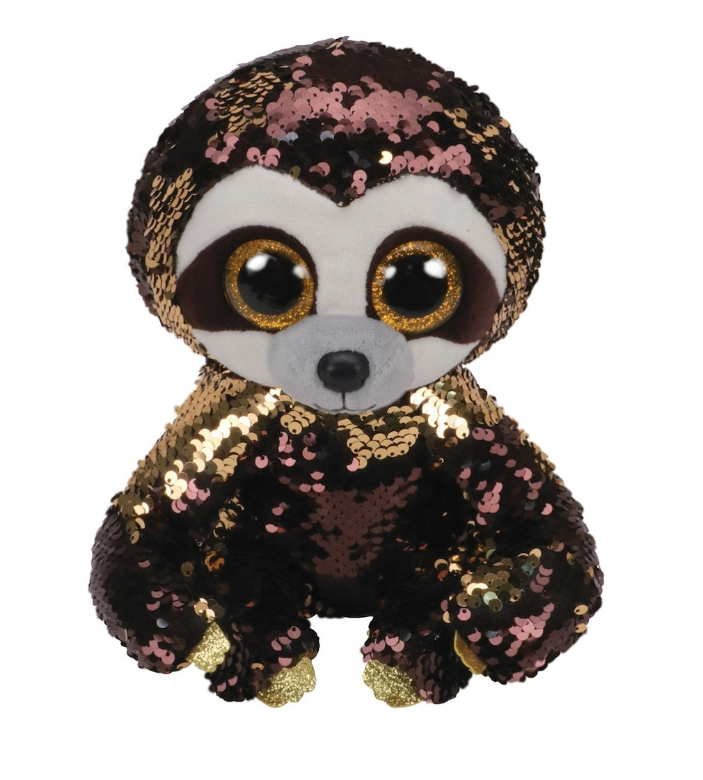 Купити М'яка іграшка Ty Flippables™ Dangler Brown Sequin Sloth - фото 1