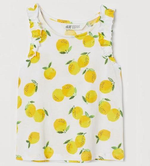 Купити Маєчка H&M Білий/Лимони - фото 1