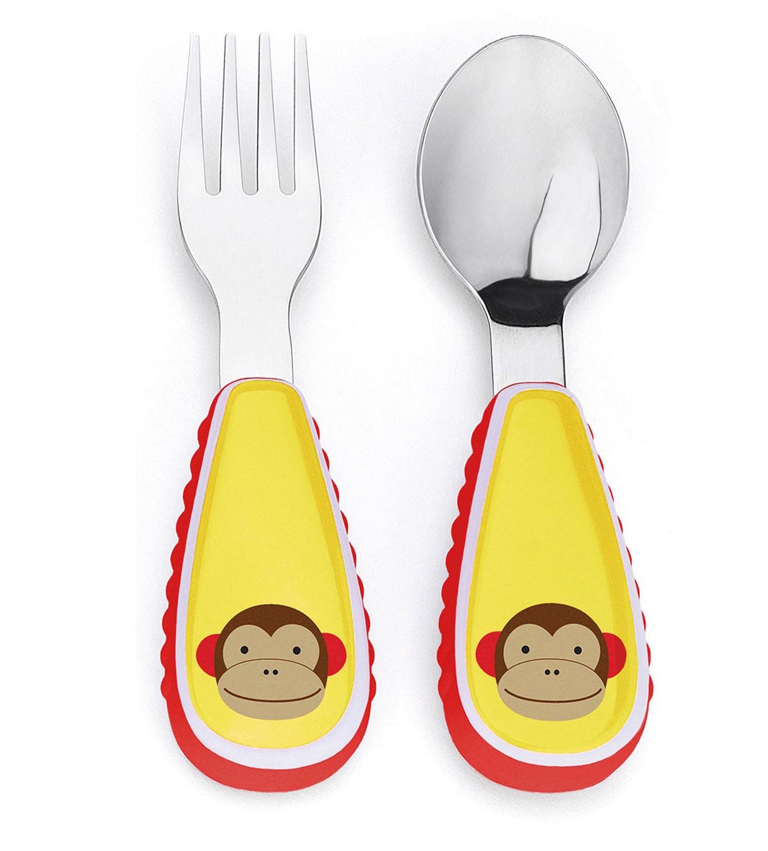 Купити Набір вилка і ложка Skip Hop Мавпочка Monkey - фото 1