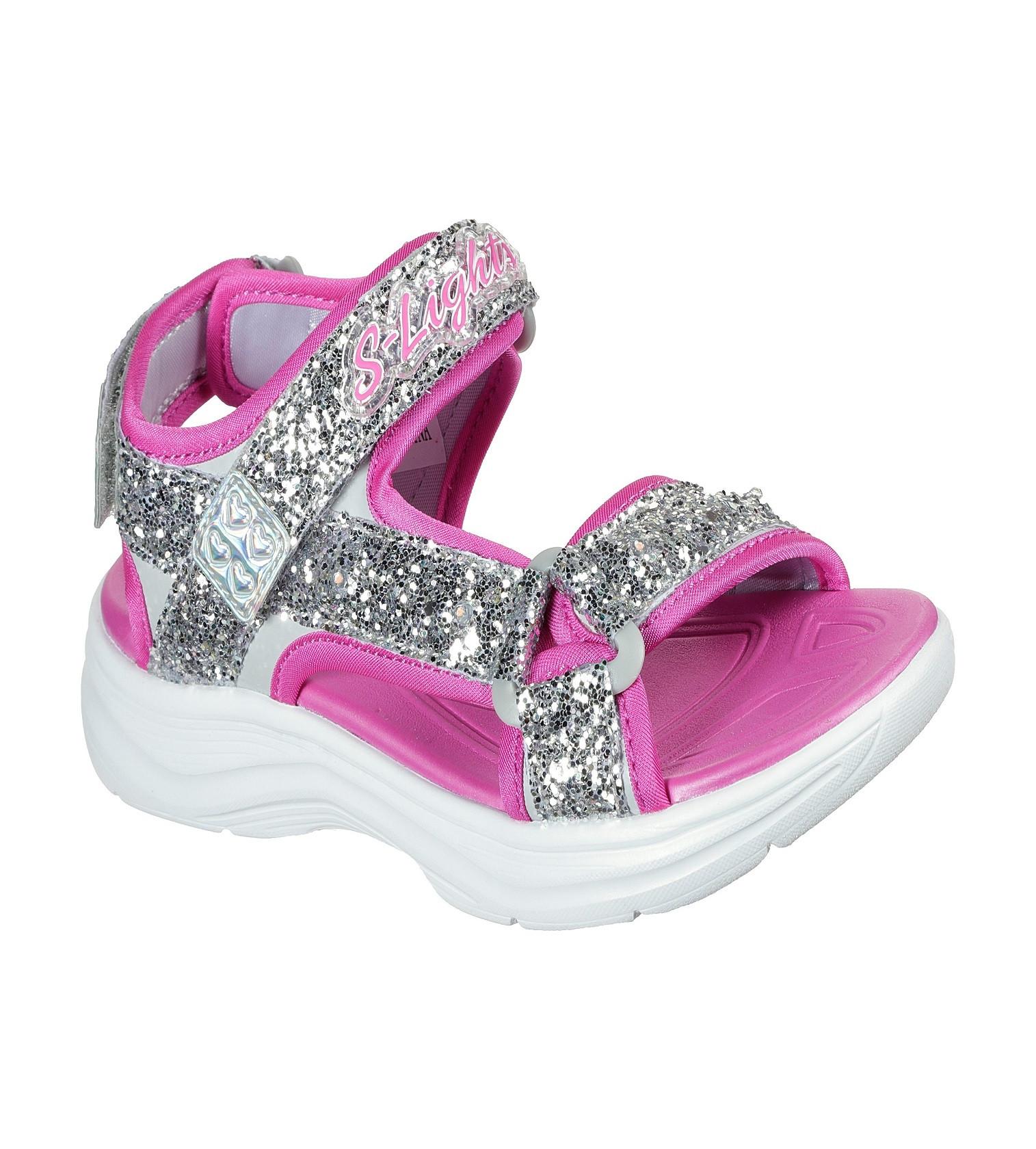 Купити Сандалії Skechers Sport Lighted - Glimmer Kids Silver Hot Pink - фото 1