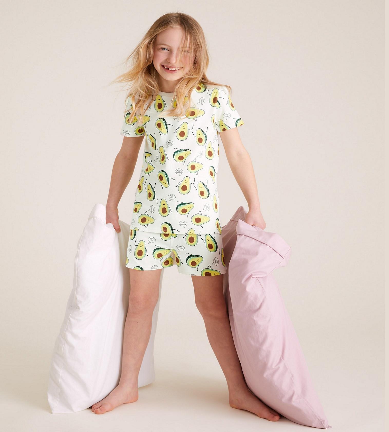 Купити Піжама M&S Cotton Avocado Short Set - фото 1