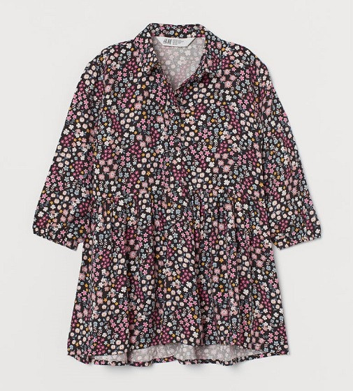 Купити Сукня H&M: Темно-сірий / Квіти - фото 1