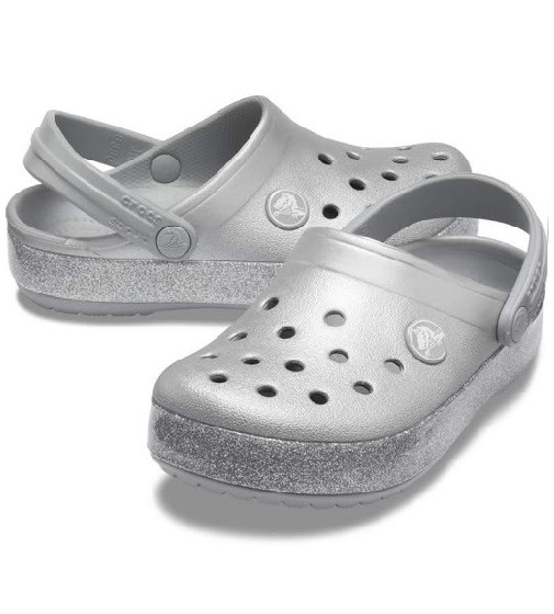 Купити Дитячі сабо Crocs Crocband Glitter Clog Jr 2 silver - фото 1
