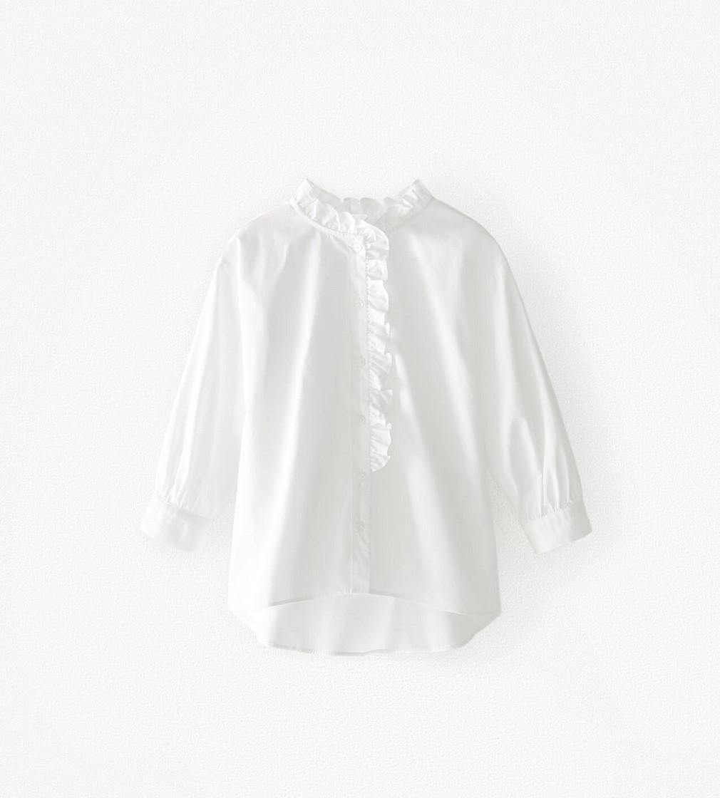 Купити Блузка з попліну ZARA White - фото 1