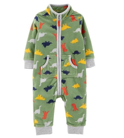 Купити Комбінезон флісовий Carters Dinosaur Zip-Up Fleece: Multi - фото 1