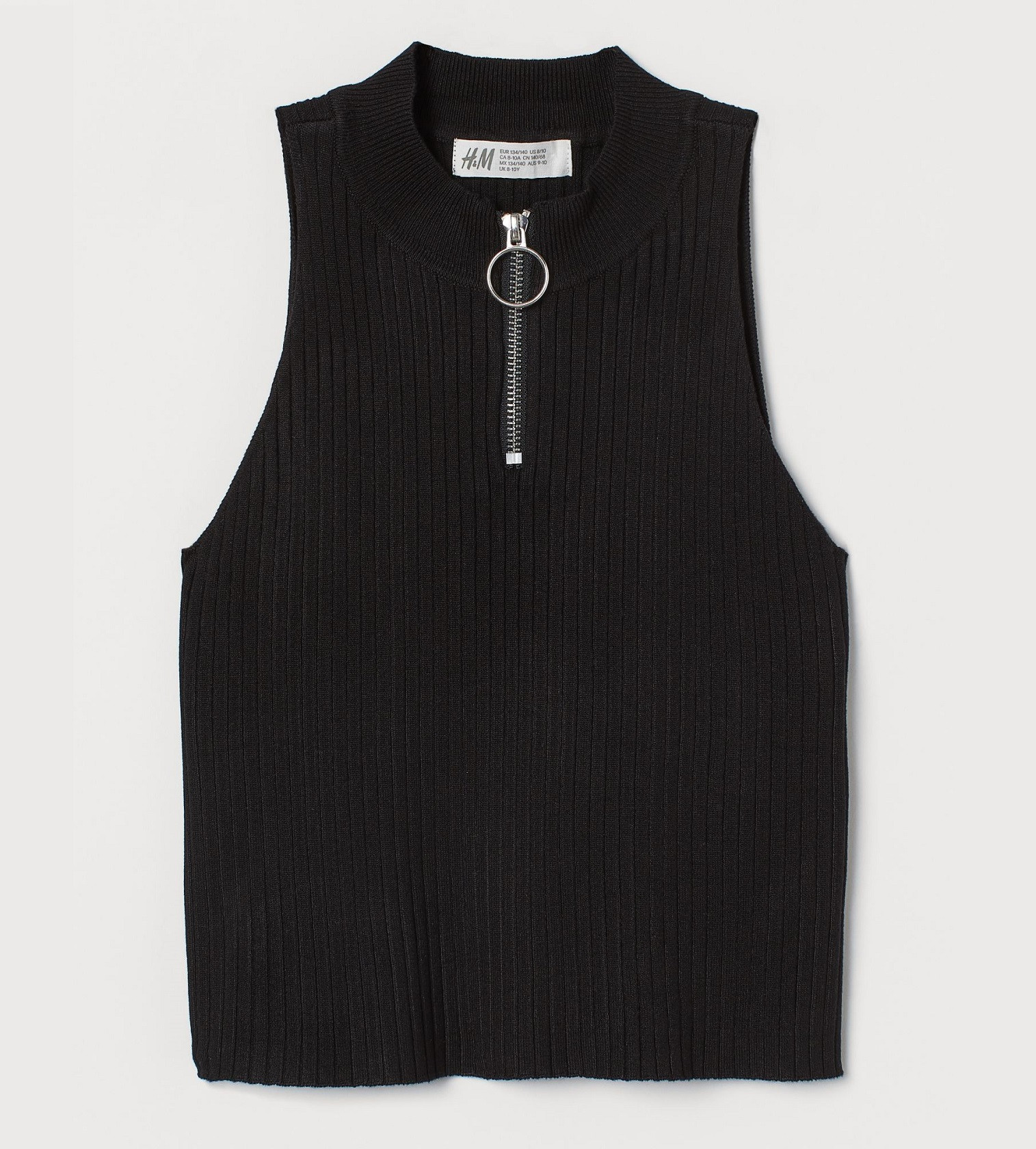 Купити Топ H&M Ribbed Black - фото 1
