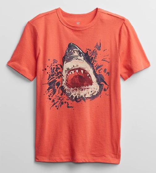 Купити Футболка Gap Graphic T-Shirt Акула: orange fire coral - фото 1