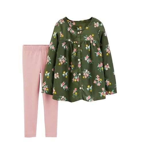 Купити Набір 2-Piece Floral Viscose Top & Legging Set Carters (28373410) - фото 1